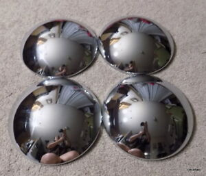 Set Of 4 Four Vintage Inside Lock Baby Moon Hubcaps Excellent Condition