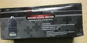 Radio Shack Digital Sound Level Meter Tester 30 2055 With Case Manual 8