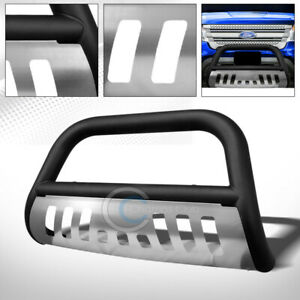 Fit 11 18 Ford Explorer Matte Black Skid Bull Bar Brush Push Bumper Grille Guard