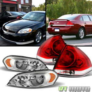 Fits 2006 2013 Chevy Impala Headlights tail Lights Lamps Left right Set 06 13