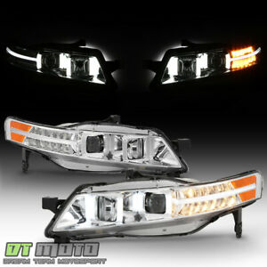 2004 2008 Acura Tl W Led Signal Drl Projector Headlights Headlamps Left right