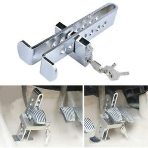 Auto Car Brake Clutch Pedal Lock Stainless Anti Theft Strong Security Clamp Keys