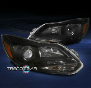 For 2012 2013 2014 Ford Focus Projector Halogen Replacement Headlight Lamp Black