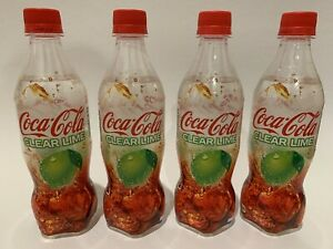 COCA COLA CLEAR LIME 2019 LIMITED EDITION JAPANESE SODA BOTTLES *4 BOTTLES