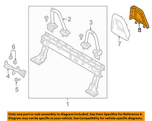 Mazda Oem 16 18 Mx 5 Miata Roll Bar rear Cover Right N24369732a