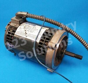 Double Stack Dryer Motor 1 4hp 1ph 60hz For Speed Queen P n 703376 01 used