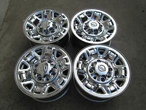 17 Nissan Nv 2500 3500 Van Factory Chrome Clad Wheels Rims 8 On 6 5 Set 4