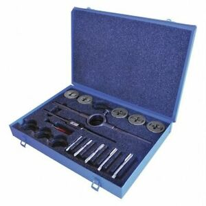 Greenfield Threading 423160 Tap And Die Set pieces 13 carbon Steel