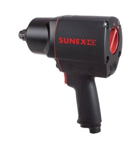 Sunex Hd 3 4 Quiet Air Impact Wrench Composite Gun Pneumatic Tools Drive Sx4355