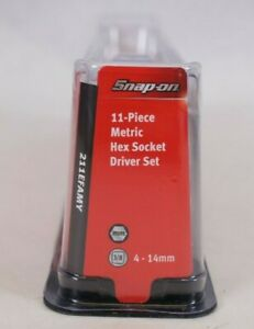 New Snap On 211efamy 11 Piece 3 8 Dr Metric Hex Socket Driver Set 4 14mm