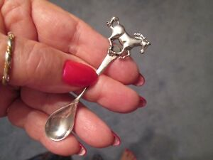 Running Horse Spring Sale Item Sterling Silver Rare Salt Spoon