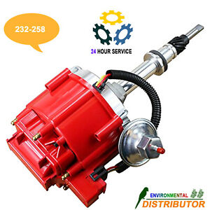 Red Ignition Distributor 6522r For Chevrolet Gmc 6 Cylinder Inlines 230 250