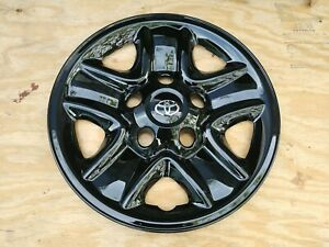 18 Tundra Black Wheelcovers Skins Imposters 4 New W Oem Logos For Steel Wheels