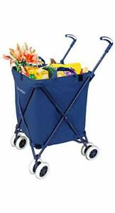 Transit Folding Shopping And Utility Cart Water resistant Heavy duty Canva