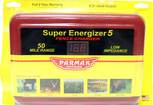 Parker Mccrory baygard P parmak Super Energizer 5 Fence Charger Red 50 Mile