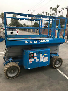 2013 Genie Gs 2669dc 4x4 26 Electric Scissor Lift Man Aerial Platform 169 hrs