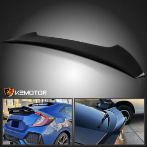 For 2016 2019 Honda Civic 5dr Hatchback Glossy Black Trunk Spoiler Wing 16 19