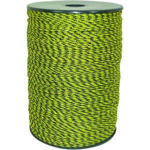 Electric Fence Wire Polywire Livestock Fencing Yellow Black Field Guardian 1312