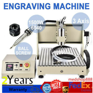 3 Axis 6040 Cnc Router Engraver Metal Woodworking Drilling Milling Machine 1 5kw