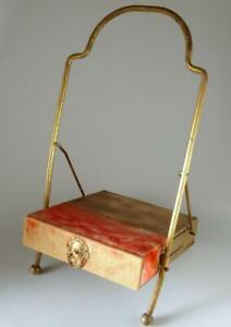 Antique Victorian Brass Easel Photo Album Box Stand