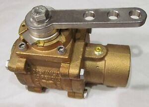 New Elkhart Brass Eb20 Ball Valve Assembly 2 1 2 Id Threaded Fire Truck