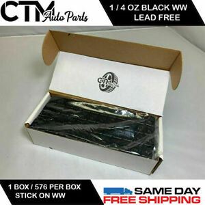 1 Box 576 Pieces 1 4 Oz Black Wheel Weights Stick On Adhesive Tape 9 Lbs