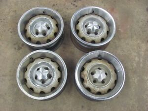 72 73 74 Cuda Challenger Rally Wheels Rims Dated Set Of 4 E Body 14x5 5 Mopar