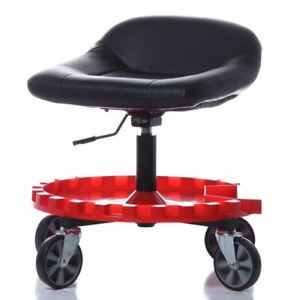 Roller Seat Creeper Garage Shop Tool Rolling Gear Stool Mobile Adjustable Height