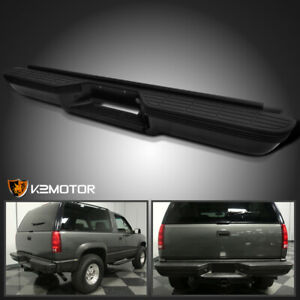 For 1992 1999 C k Suburban Tahoe Blazer Black Rear Bumper Step impact Strip