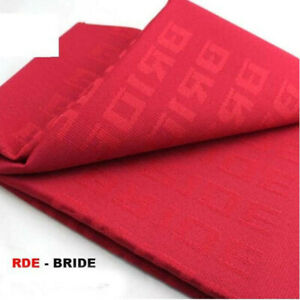 Red Bride Fabric Racing Seat Cover Door Panel Decoration Material Jdm