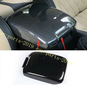 Carbon Fiber Inner Armrest Box Panel Cover Trim For Toyota Prado Fj150 2010 2018