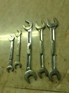 6 Snap On Sae Double Open End Wrench Lot Usa J S Ibm Series