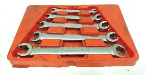 ma3 Snap On 5 piece Double Ended Flare Nut Wrench Set 1 4 13 16