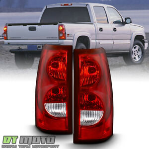 2003 2006 Chevy Silverado 1500 2500 3500 Tail Lights Brake Lamps W Bulb harness