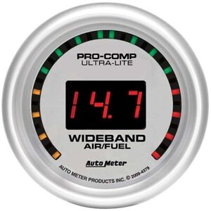 Auto Meter Ultra Lite Digital Wideband Air Fuel Ratio Afr Gauge