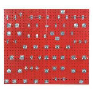 Locboard Lb2 rkit Pegboard Kit red square 42 1 2 h 24 w