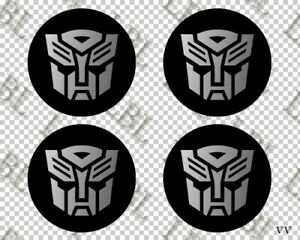 4x Autobot Transformer Car Wheel Hub Center Cap Vinyl Decal Sticker Overlay