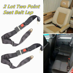 2pcs Car Truck Seat Belt Lap Safety Belts Two Point Bolt Adjustable Universal Us