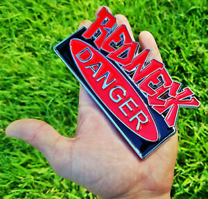 Oem Redneck Danger Edition Emblem 3d Badge Ford F150 F250 F350 Black Red Decal