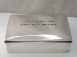 Rare Antique 1938 Gorham Sterling Silver Lake Forest Fl Horse Show Trophy Box