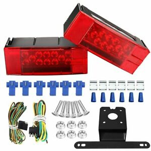 Led Tail Light Kit Submersible Rv Trailer Truck Boat Waterproof Jet Ski Lighting