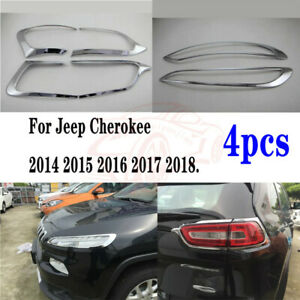 Exterior Chrome Trim Accessories For Jeep Cherokee 2014 2015 2016 2017 2018