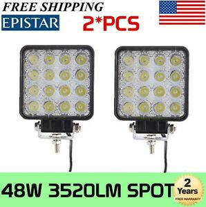 2x 48w Led Work Light Off Road Spot Lamp For Car Truck Suv Motor 4 18w 24w 27w