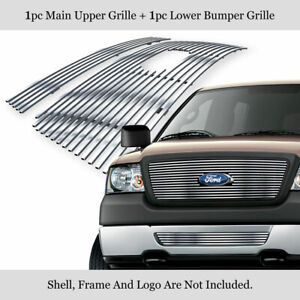 Fits 2006 2008 Ford F 150 Honeycomb Style Stainless Billet Grille Insert Combo