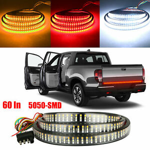 Tailgate Strobe Brake 60 Triple Led Sequential Turn Signal Brake Light Strip