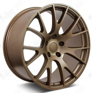 22 Hellcat Style Wheels Bronze Fit Dodge Magnum Charger Challenger 22x9 22x10