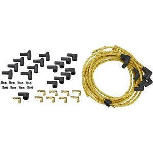 Lokar Pw 1003 Cloth Covered Spark Plug Wire Yellow black Tracer