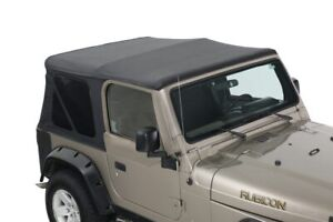 Premium Replacement Soft Top Tj Without Upper Doors Black Diamond Jeep Wrangler
