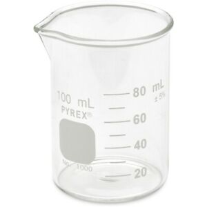 Pyrex 1000 100 100ml Beaker Griffin Low Form Graduated case 48