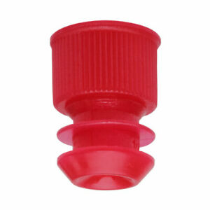 Test Tube Cap Flange Type 12mm Red case 20000